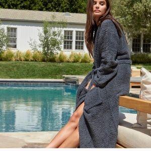Barefoot Dreams Gray CozyChic Long Robe No Belt